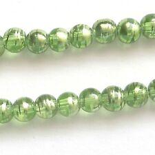 200 Peridot 4mm Translucent Drawbench Beads Jewellery Making