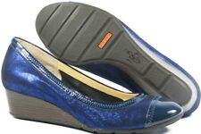 Cole Haan NikeAir Collaboration Milly Cobalt Blue Metallic Leather Wedge, Sz 6