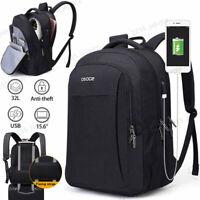 OSOCE Waterproof Men's Women's Laptop Outdoor Travel School Bag Backpack Black