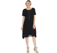 Linea by Louis Dell'Olio Regular Crepe Dress with Lining Black Color Size 1X
