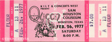1 1977 Queen Vintage Unused Full Concert Ticket Houston Texas laminated repro pk