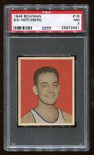 1948 Bowman #16 Sid Hertzberger *Capitols* PSA 7 NM #25673451