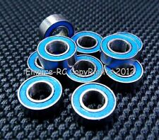 [10 PCS] MR84RS (4x8x3mm) Rubber Sealed Ball Bearing Bearings (BLUE) 4*8*3