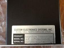 CUSTOM ELECTRONICS AUTO ZERO TRANSMITTER 367-.05