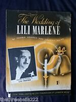 ORIGINAL SHEET MUSIC - THE WEDDING OF LILI MARLENE - LOU PRAEGER
