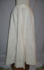 Victorian / Edwardian White Linen Skirt w Pleats w -23