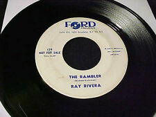 RAY RIVERA Rambler/What Kind Of Woman Are You MOD NORTHERN SOUL POPCORN 45 Hear