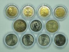 11 pcs PHILIPPINE COMMEMORATIVE COINS / 2011-2017 / UNCIRCULATED