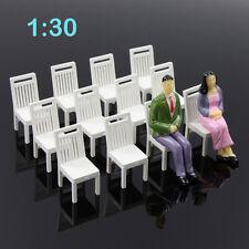 ZY17030 12pcs Model Train Railway Leisure Chair Settee Bench Scenery 1:30 G