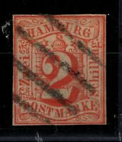 G128667 / GERMAN OLD STATES / HAMBURG / MI # 3 USED CV 150 $