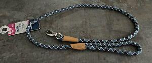 Rope Lead For Little Dogs 120cm Blue Trigger Clip Comfort Design