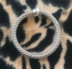 Silpada Sterling Silver 925 Chic Stretch Bracelet w/ Ball Bead B2788 Retail $100