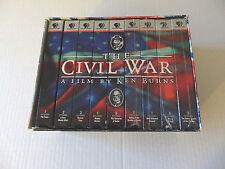 The Civil War -- A Film by Ken Burns (VHS, 9-tape set)