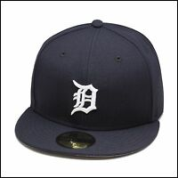 New Era 59fifty Detroit Tigers Fitted Hat Cap Navy/White 1999-2006 Home MLB