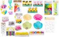 Easter Bonnet Egg Hunt Bags DIY Decoration Bunny Chicks Feathers UK Decorations