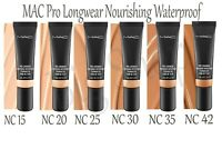 MAC Pro Longwear Nourishing Waterproof foundation 25ml - Various Shades- UK