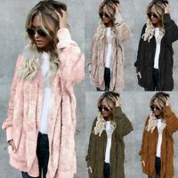 Women's Long Oversized Loose Knitted Sweater Cardigan Outwear Coat New