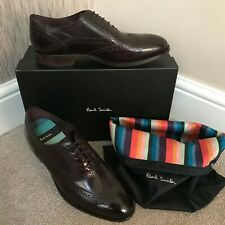 PAUL SMITH BLACK LEATHER CHRISTO BROGUE SHOES MADE IN ITALY SIZE 7 RETAIL £295