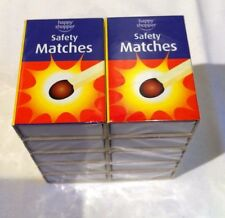 10 Boxes of Safety Wooden Matches-Ideal for lighting Candles BBQ Camping Cooker