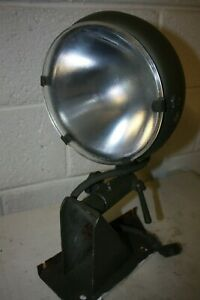 Military  Spot / Search Light c/w Slide Out Diffusser -New Reflector and Bulb