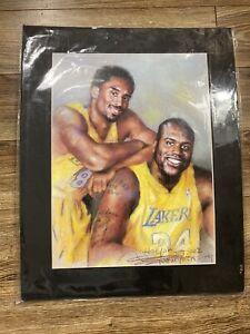 """Vintage Kobe Bryant Shaq O'Neal LA Lakers 2002 Haiyan Art Print 16""""x 20"""""""