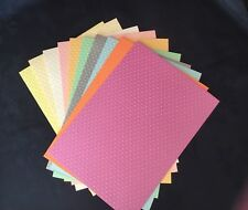 A4 Decorative Card Stock Red/Blue/Yellow/Embossed Dot Bright Colours 240gsm