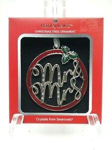 MR & MRS Harvey Lewis Christmas Tree Ornament w/ SWAROVSKI Crystals