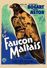 Film Noir: Humphrey Bogart in * The Maltese Falcon * FRENCH Movie Poster 24x36