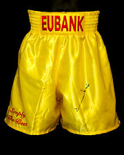 *New* Chris Eubank Signed Custom Made Replica Boxing Trunks