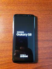 Samsung GalaxyS8 SMG950U 64GB Midnight Black/Boost Mobile /w/wireless charge pad
