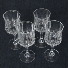 Longchamp by Durand Cris D'Arques Crystal 8 oz Water Wine Goblets Set of 4 MINT