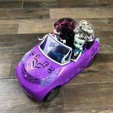 Monster High Doll Scaris City of Frights Purple CONVERTIBLE Car Two Dolls