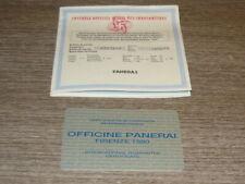 OFFICINE PANERAI GARANZIA ORIGINALE OROLOGIO USATA GARANTIE PANERAI WATCH 1998