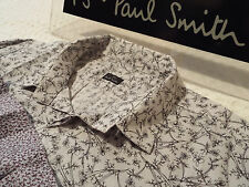 """PAUL SMITH Mens Shirt 🌍 Size L (CHEST 40"""") 🌎 RRP £95+ 📮 FLORAL LIBERTY STYLE"""