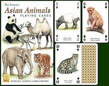 Asiática Animales Set de 52 Carta de Juego + Bromistas ( Hpc )