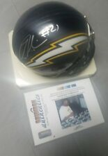 Ladainian Tomlinson San Diego Chargers signed Riddell mini helmet +coa