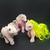 Vintage My Little Pony So Soft Fuzzy Lot of 3 Hippity Hop Shady Lickety Split
