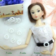 1/6 Bjd Doll Dress Crafts 11mm Round Plastic Buckle White 5pcs Nda048Whe