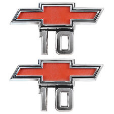 NEW Front Fender Bowtie 10 Emblem PAIR / FOR 67-68 CHEVY C/K TRUCK SUBURBAN 9525