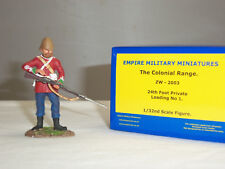EMPIRE ZW2003 ZULU WAR BRITISH 24TH FOOT PRIVATE STANDING LOADING TOY SOLDIER