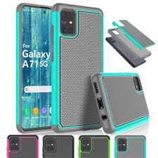 For Samsung Galaxy A71 5G Shockproof Hybrid Rugged Rubber Matte Combo Case Cover