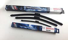 BOSCH TERGICRISTALLI SET CON SPOILER ANTERIORE + POSTERIORE BMW 3er e91 Touring wipers