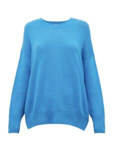 Allude 100% Cashmere Sweater Jumper Vince Blue Small Current $590