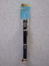 Westminster Pet Ruffin' it Ornamented Leather Dog Collar Black Size Small