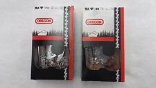 """2 Pack Oregon 72LPX072G Chainsaw Chain Full Chisel 20"""" 3/8 .050 72DL"""