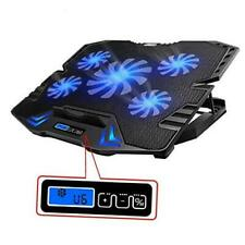 TopMate C5 12-15.6 inch Gaming Laptop Cooler Cooling Pad, 5 Quiet Fans and LCD S