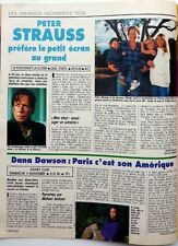 Peter Strauss => 1 page 1990 French clipping / cutting !