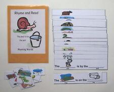 Teacher Created Literacy Center Educational Resource Game Read & Rhyme Sentences