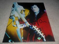 STEVE VAI SIGNED AUTOGRAPHED COLOUR PHOTOGRAPH 10 X 8 WITH C.O.A. (FRANK ZAPPA)