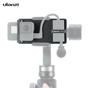 Ulanzi PT-6 Switch Mount Plate Vlog Plate with Mic Adapter for GoPro  7 A4H4